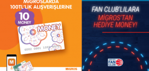 Migros'tan Fan Club'lılara 10 Money Hediye!